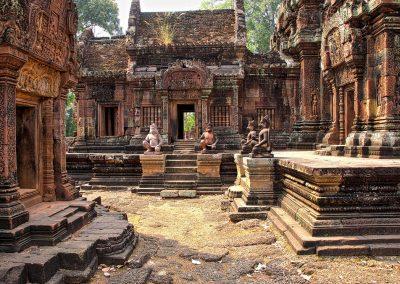 Inside Banteay Srei