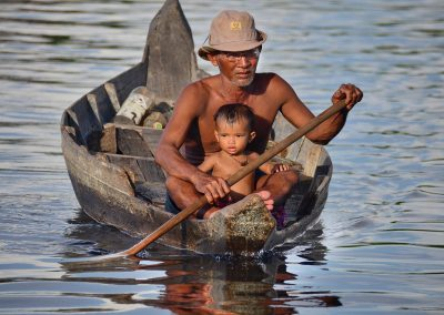 Man Son In Boat