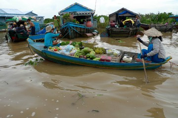 Floating Fruit Seller on the Tonle Sap
